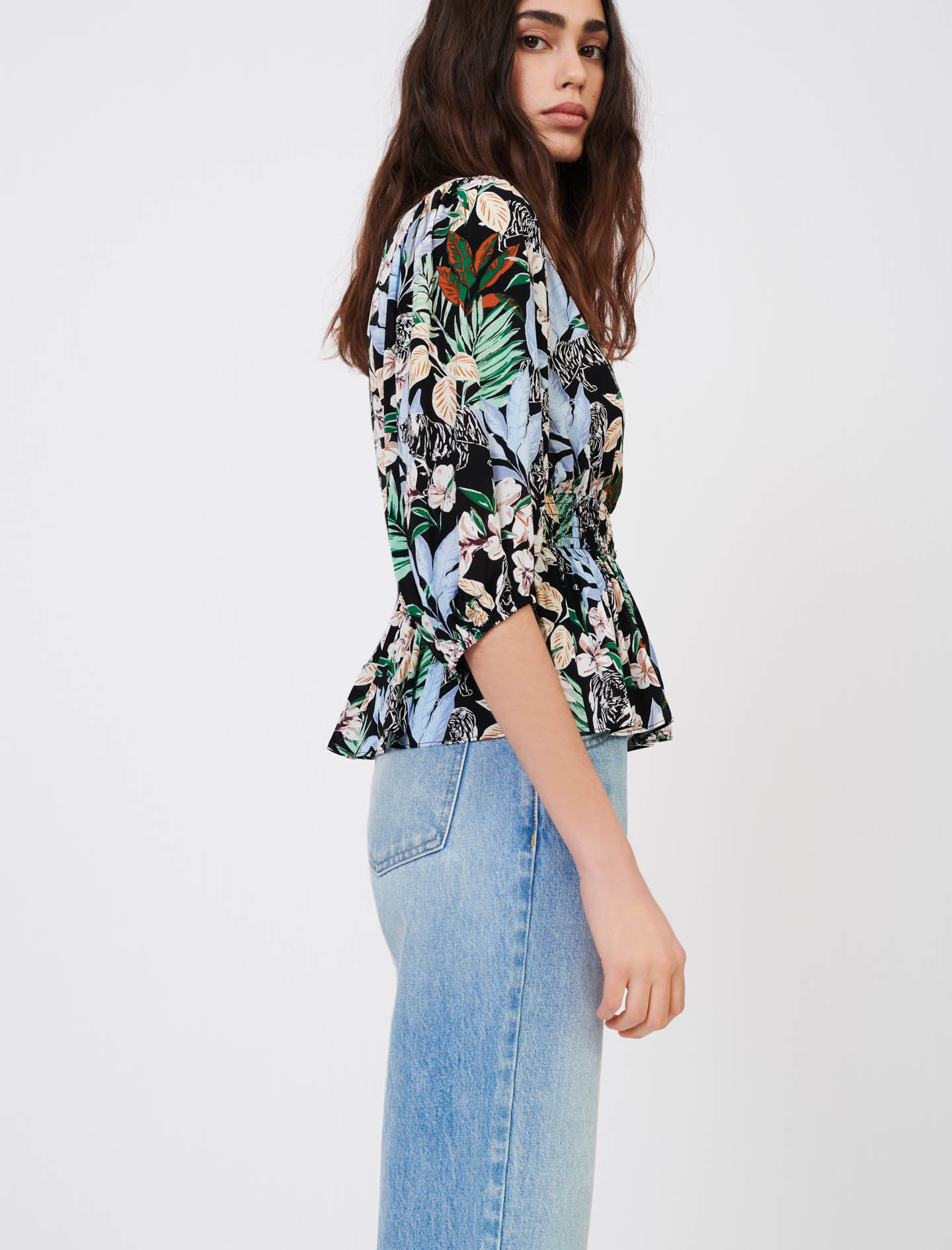 Top in printed flowing viscose - Multiclr