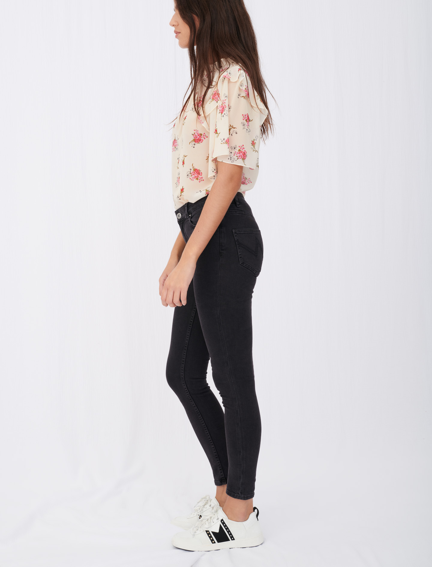 Mid-rise skinny jeans - Grey
