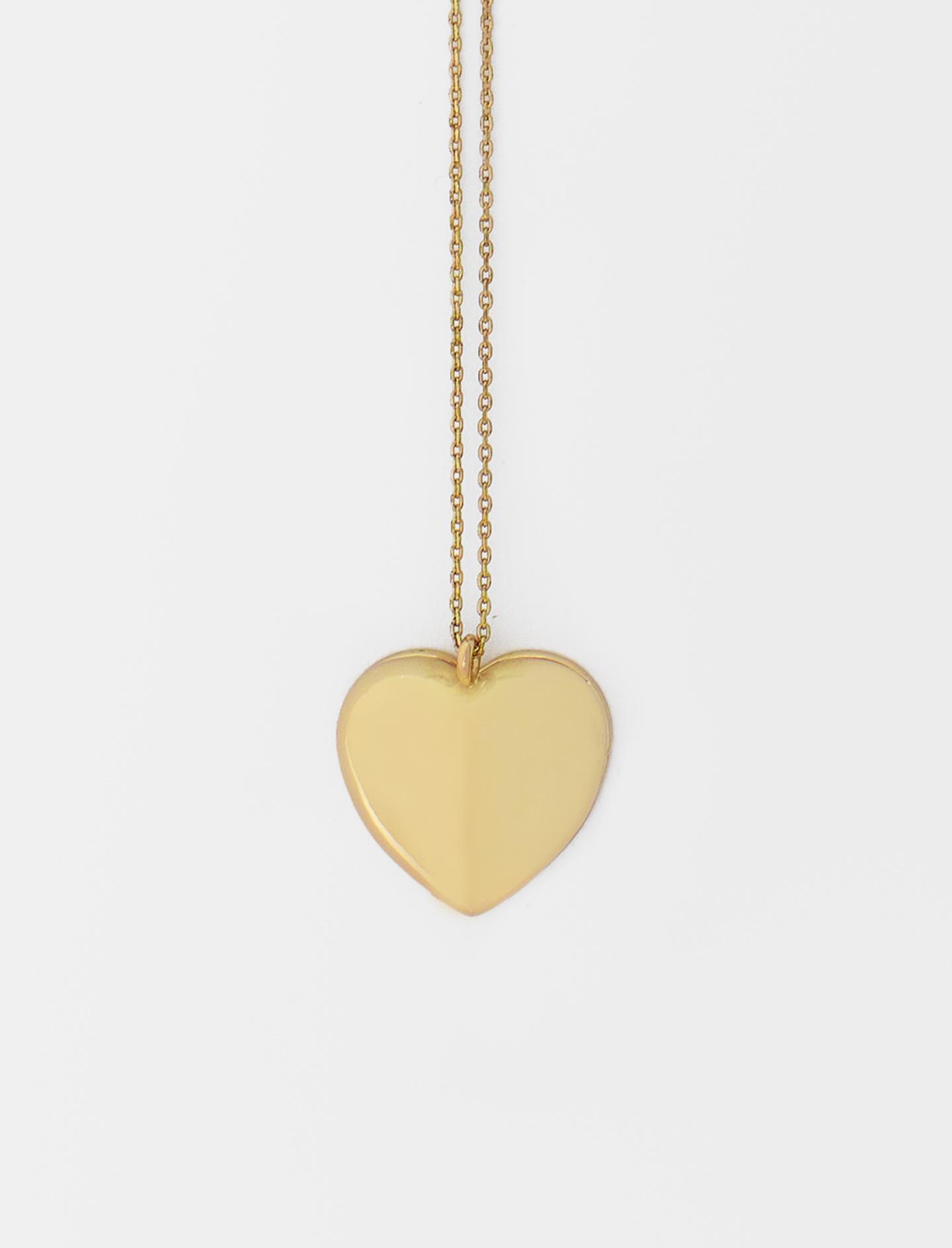 Gold-tone heart photo locket necklace - Gold