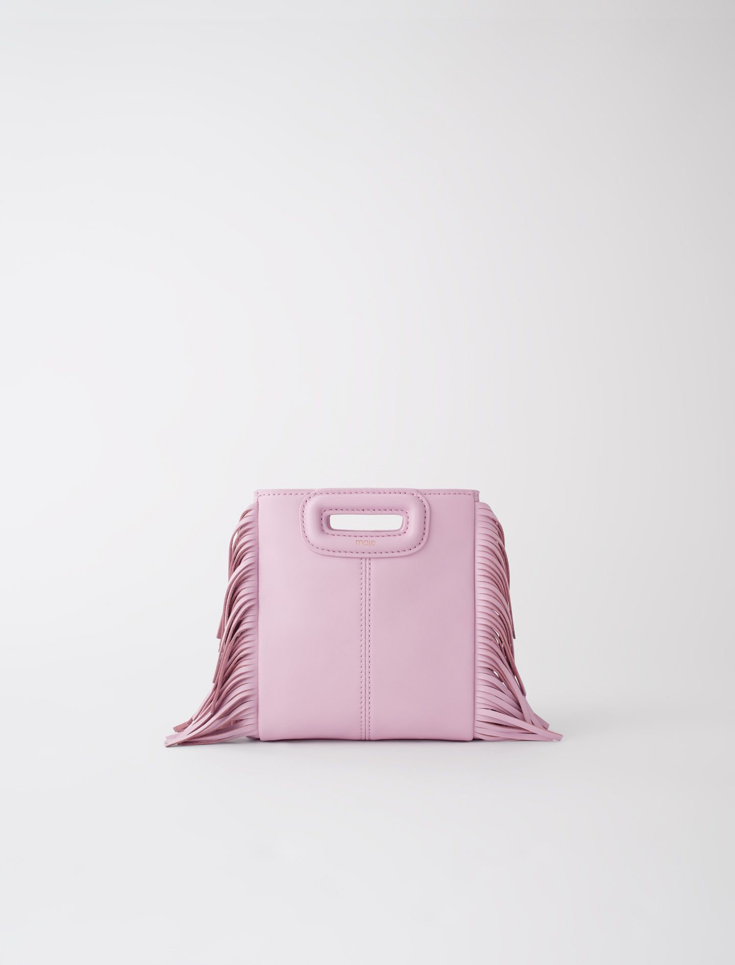 Mini leather M bag with chain - Pink