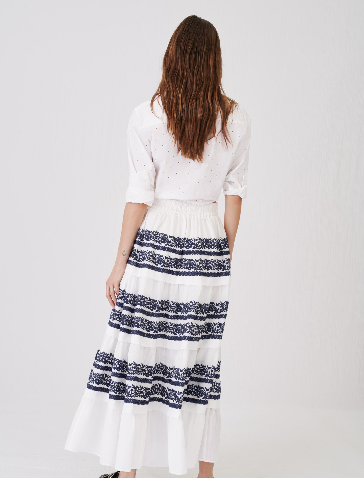 Maje Skirt with all-over embroidery