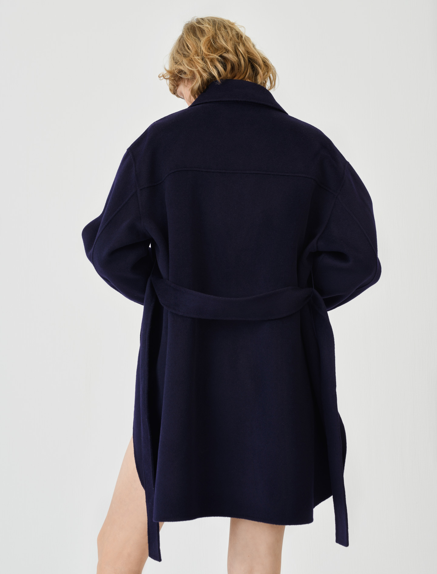 Belted double face coat