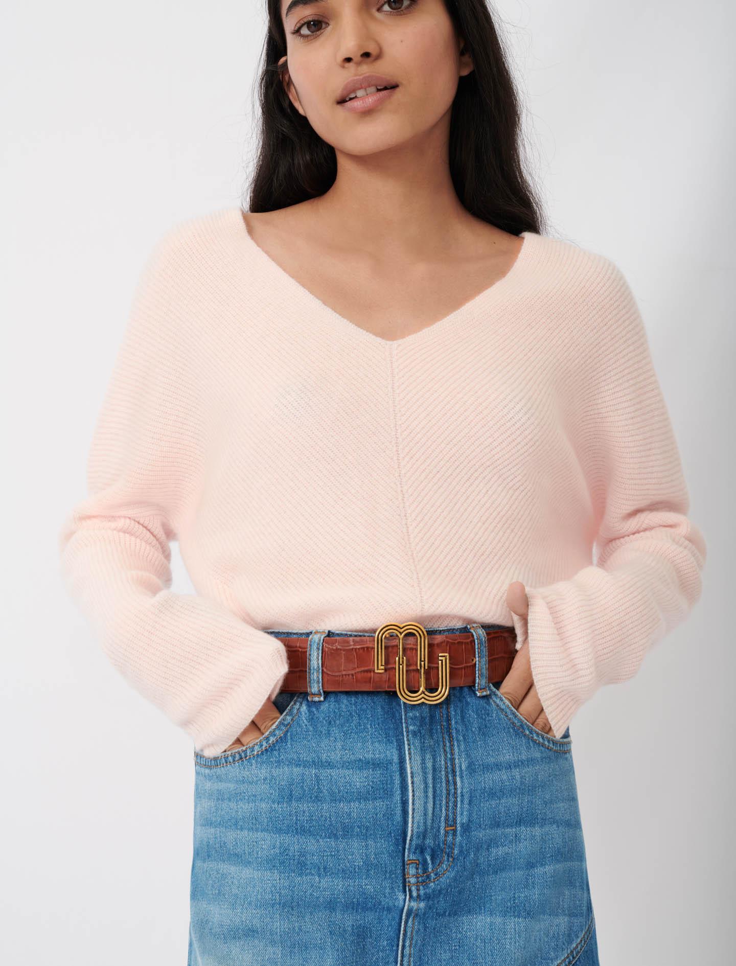 Maje Soft v-neck cashmere sweater