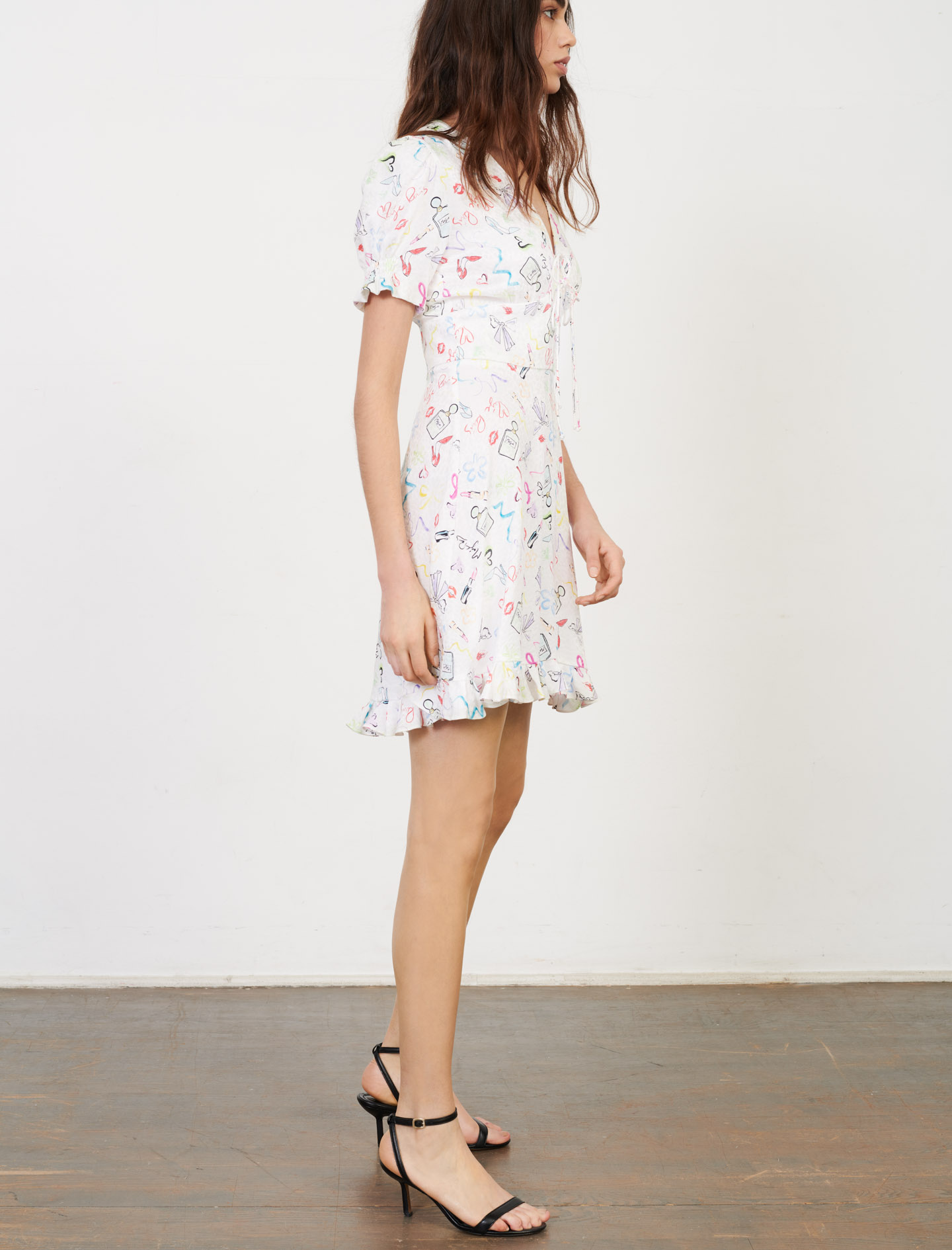 Maje Mini Dress with print