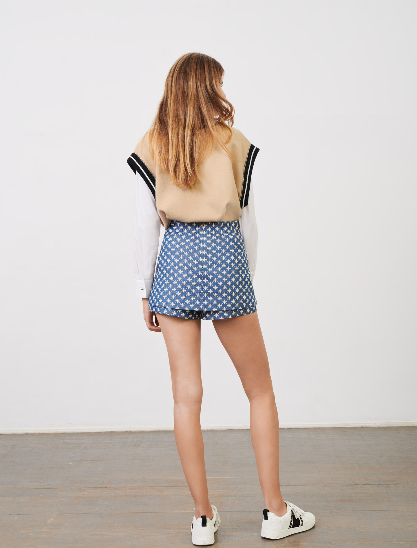 TROMPE LOEIL EMBROIDERED SHORTS