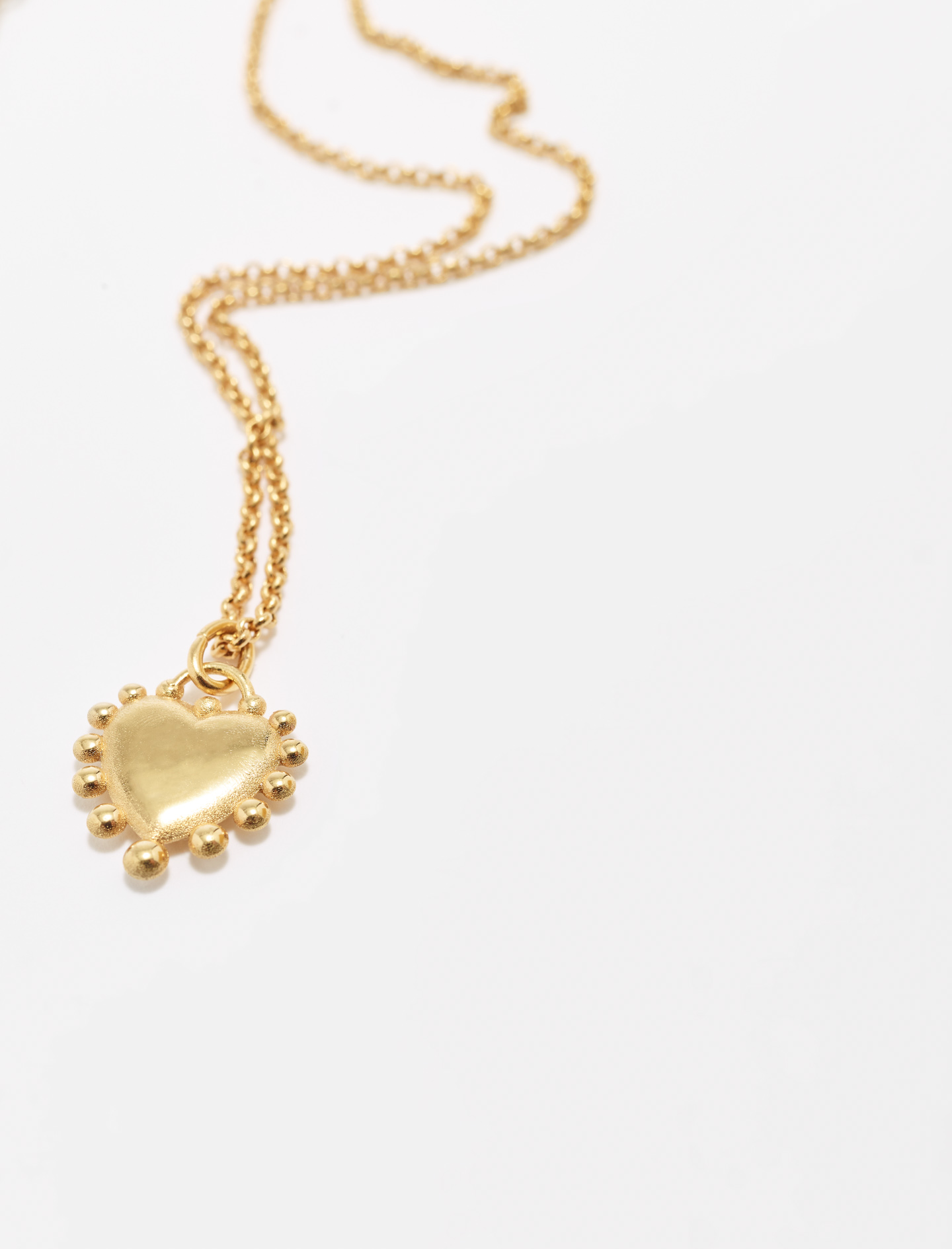 Heart pendant on chain - Gold