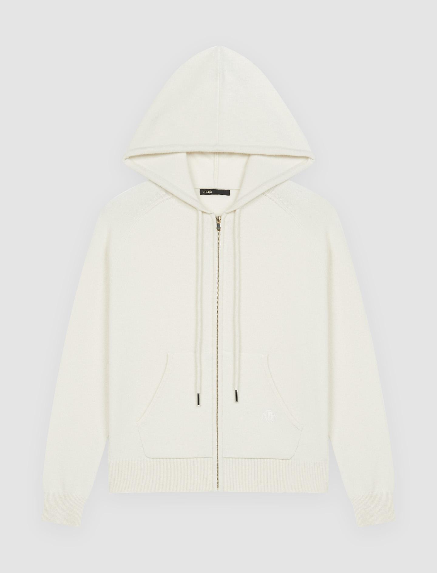 Cashmere hoodie - Ecru