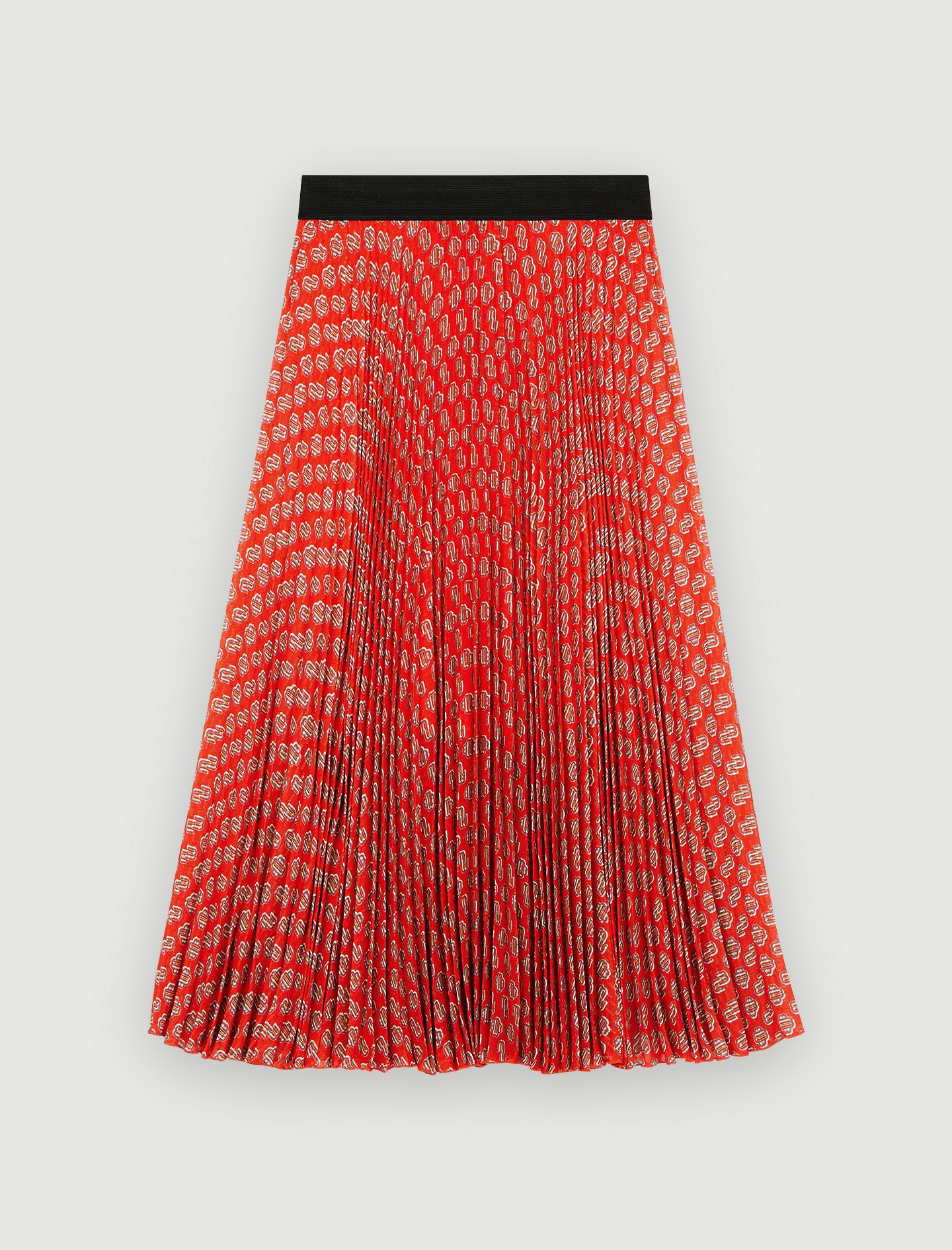 Midi skirt print - Red