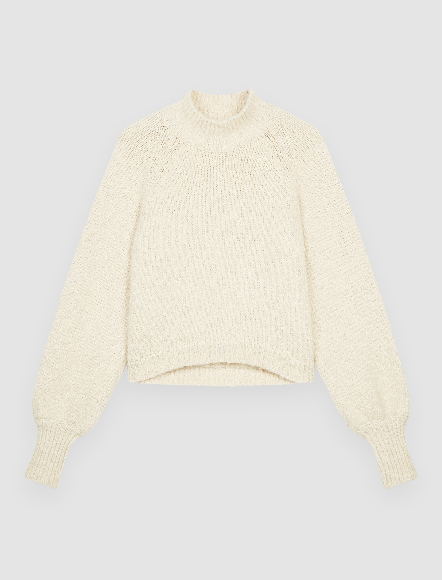 Decorative Knit Pullover With Collar - White