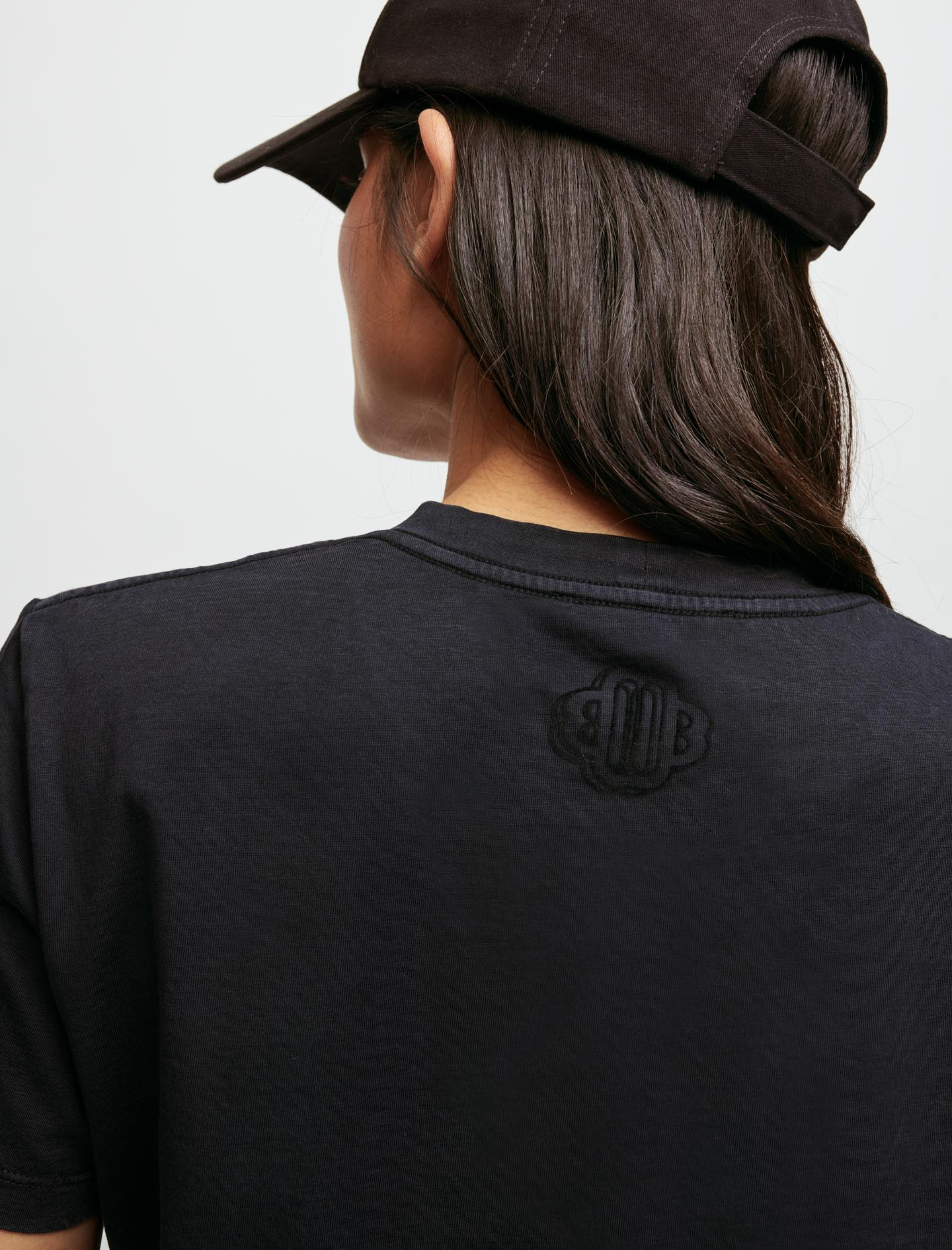 Jersey t shirt with gradient music - Black