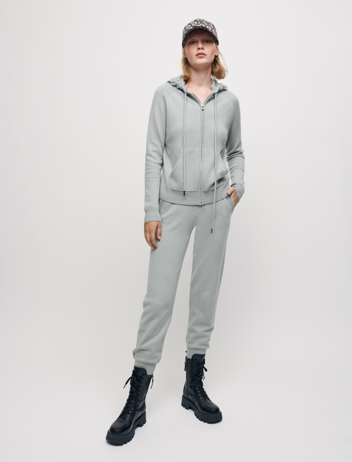Cashmere tracksuit trousers - Light Grey