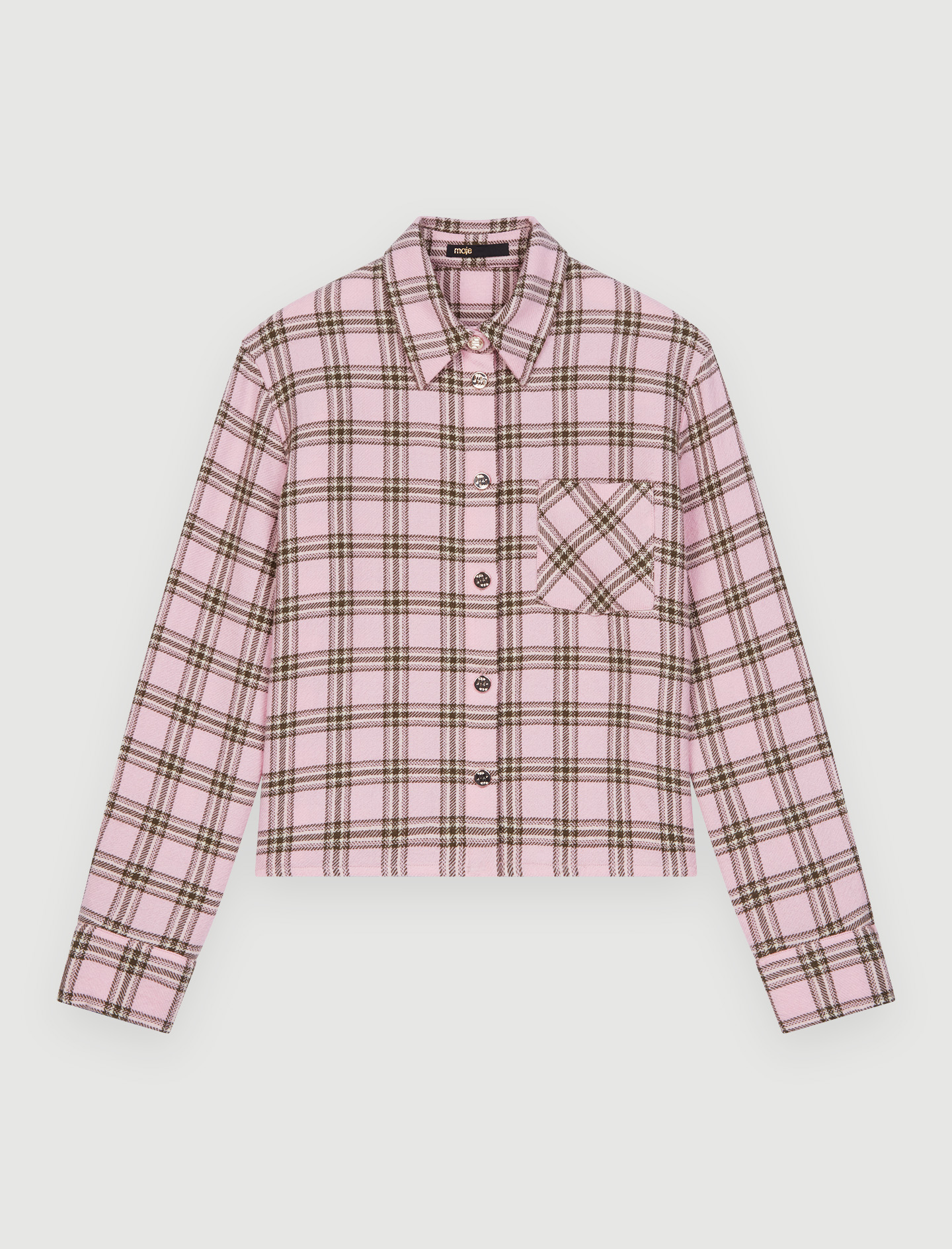 Checked shirt for tying - Pink