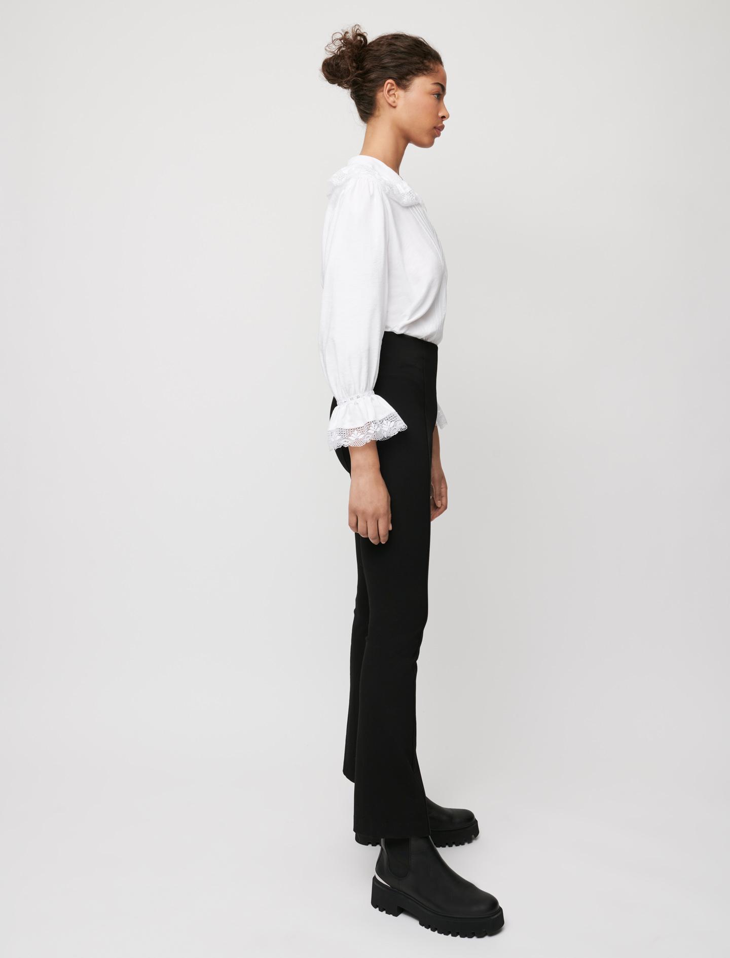 Flared stretch leggings - Black