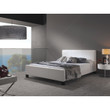 Fashion Bed Group Euro Upholstered Platform Bed, White