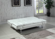 Coaster Dilleston Contemporary Sleeper Sofa Bed in White; Flat Position