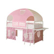 Coaster Salina Twin Low Loft Bunk Bed in White and Pink