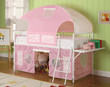 Coaster Salina Twin Low Loft Bunk Bed in White and Pink 2