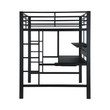 Coaster Safeguard Full Loft Bunk Bed with Workstation; Side angle