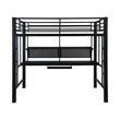 Coaster Safeguard Full Loft Bunk Bed with Workstation; Front