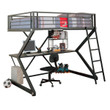 Coaster Alps X Full Loft Bunk Bed in Black with Workstation 3