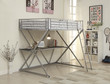 Coaster Alps X Workstation Loft Twin Bunk Bed in Silver 2