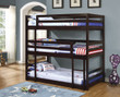 Coaster Sandler Triple Layer Bunk Bed with Cappuccino Finish