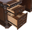 Coaster Union Hill Double Pedestal Desk with Leather Insert Top; Drawers
