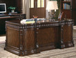 Coaster Union Hill Double Pedestal Desk with Leather Insert Top; Lifestyle