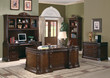 Coaster Union Hill Double Pedestal Desk with Leather Insert Top; Lifestyle 2