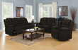 Coaster Gordon Casual Reclining Living Room Set in Chocolate