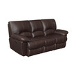 Coaster Clifford Leather Reclining Sofa in Brown
