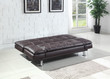Coaster Dilleston Sofa Bed in Brown; Flat Position