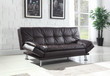 Coaster Dilleston Sofa Bed in Brown; Lifestyle