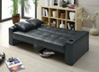 Coaster Yorkshire Sofa Bed in Black; Flat Lifestyle