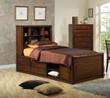 Coaster Scottsdale Bookcase Storage Bed in Dark Brown