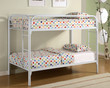 Coaster Fordham Twin Over Twin Bunk Bed in White 1