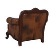Coaster Victoria Tri-Tone Button Tufted Arm Leather Chair; Back View