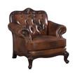 Coaster Victoria Tri-Tone Button Tufted Arm Leather Chair