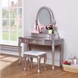 Coaster Caroline Vanity Desk in Lilac; Full Set Photo