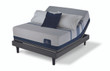 Serta iComfort Blue Max 5000 Elite Luxury Firm Mattress with Motion Perfect III Adjustable Bed Set