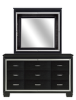 Homelegance Allura Collection Dresser & Mirror in Black