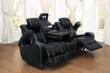 Homelegance Madoc Collection Reclining Sofa in Black