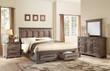 Homelegance Toulon Collection 4 Piece Bedroom Set in Distressed Dark Oak 1