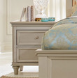 Homelegance Celandine Collection 2 Drawer Nightstand in Silver