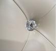 Homelegance Celandine Collection Upholstered Bed in Silver Pearl bi-cast vinyl
