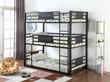 Coaster Rogen Triple Full Bunk Bed in Dark Bronze; Lifestyle