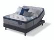Serta iComfort Hybrid Blue Fusion 4000 Plush Pillow Top Mattress with Adjustable Base
