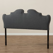 Baxton Studio Dalton Modern and Contemporary Dark Grey Fabric Headboard