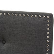 Baxton Studio Windsor Modern and Contemporary Dark Grey Fabric Headboard
