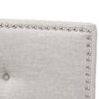 Baxton Studio Windsor Modern and Contemporary Greyish Beige Fabric Upholstered Headboard